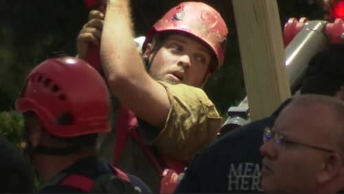 'Lucky to be alive': Crews rescue worker trapped in collapsed trench for nearly 6 hours