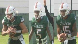 Miami quarterbacks making their case for starting job
