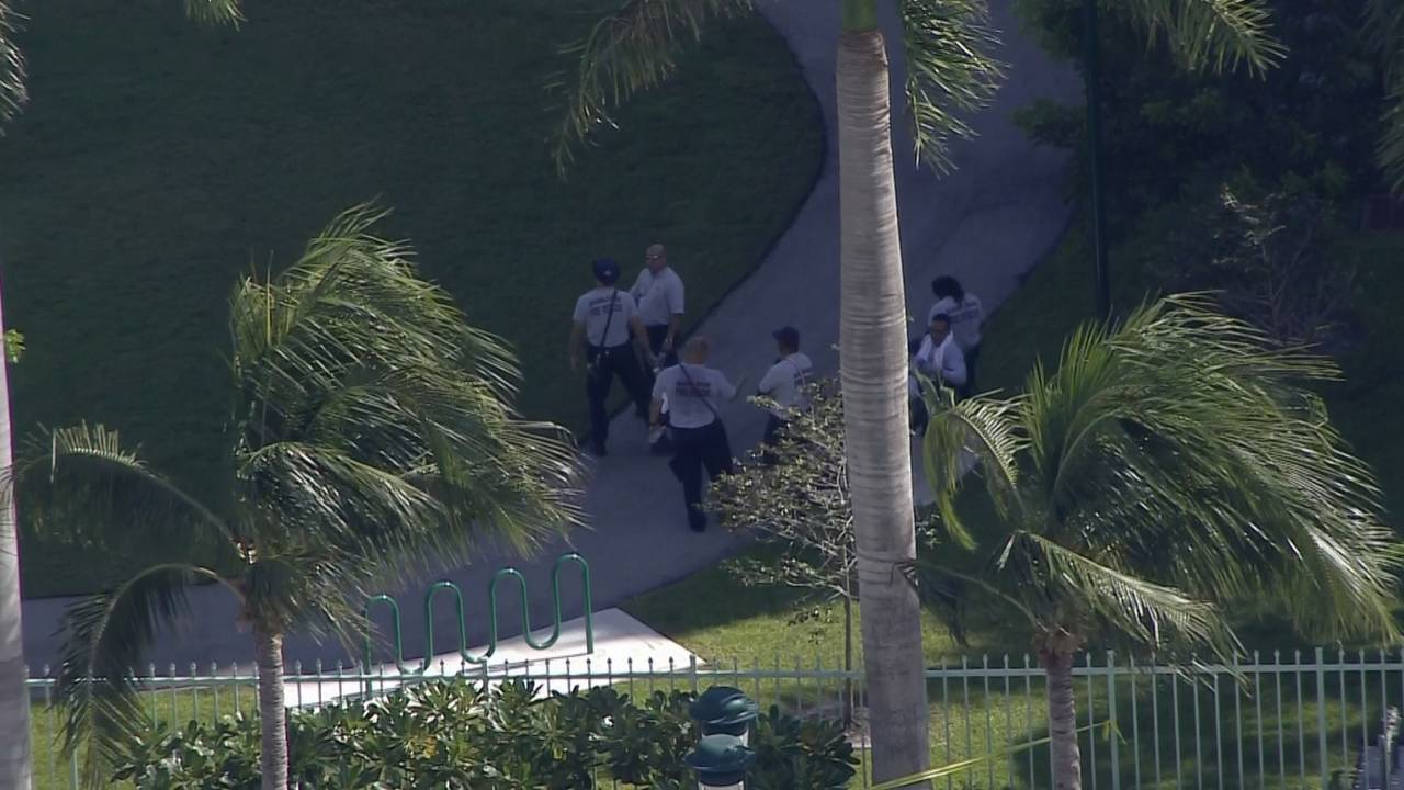 Fire Rescue crews outside Aventura high rise
