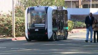 Partially 3D-printed driverless shuttle debuts in Calif.