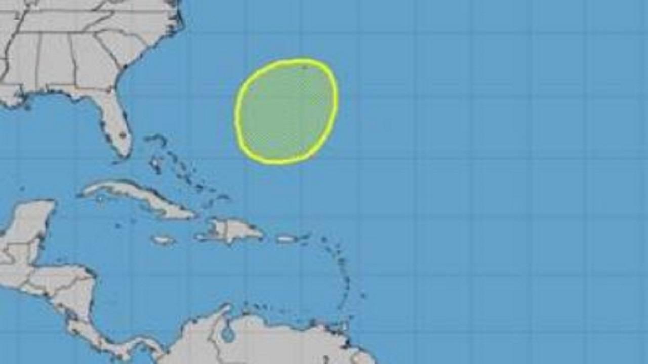 Weather system near Bermuda 5-17-19