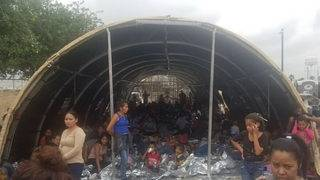 Photos reveal children sleeping on ground at border station