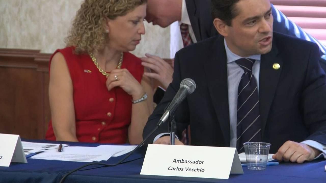 Carlos Vecchio and Wasserman Schultz