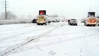 Winter storm hits Utah