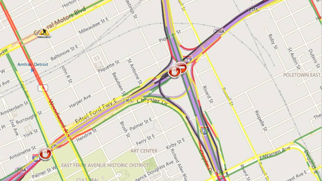 I 75 Traffic Map.Traffic Alert Westbound I 94 Reopened At I 75 And I 96