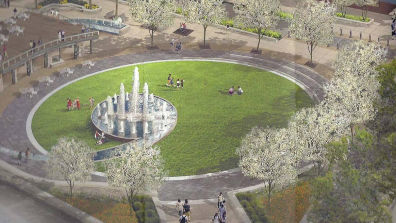 Artist rendering Ann Arbor park