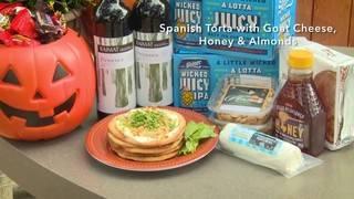 H-E-B Backyard Kitchen: Spanish Torta with Goat Cheese, Honey & Almonds