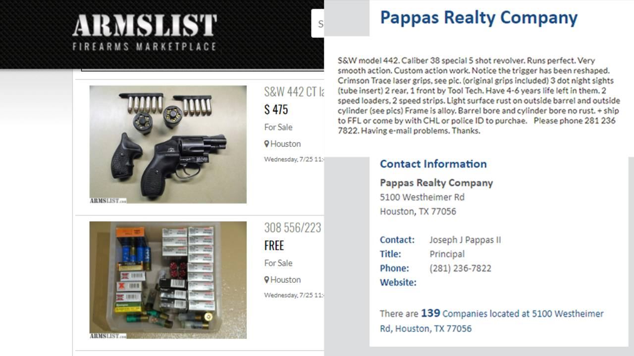 gun listings from pappas