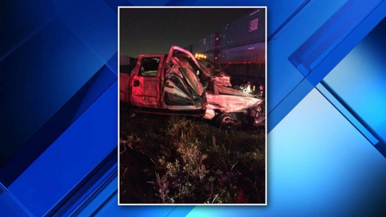 Deerfield Beach train, truck crash scene 3