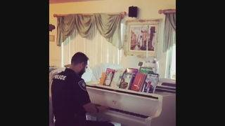 Piano-playing police officer comforts family in Pembroke Pines