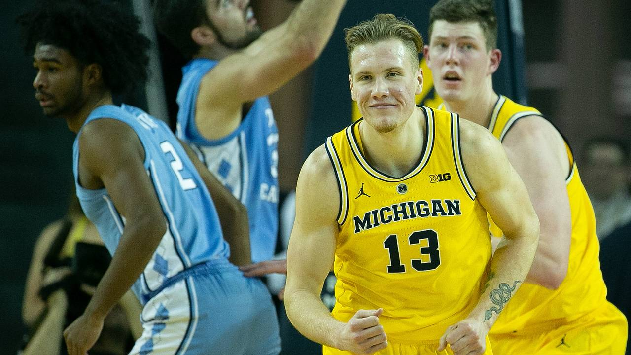 Ignas Brazdeikis Michigan basketball vs North Carolina 2018
