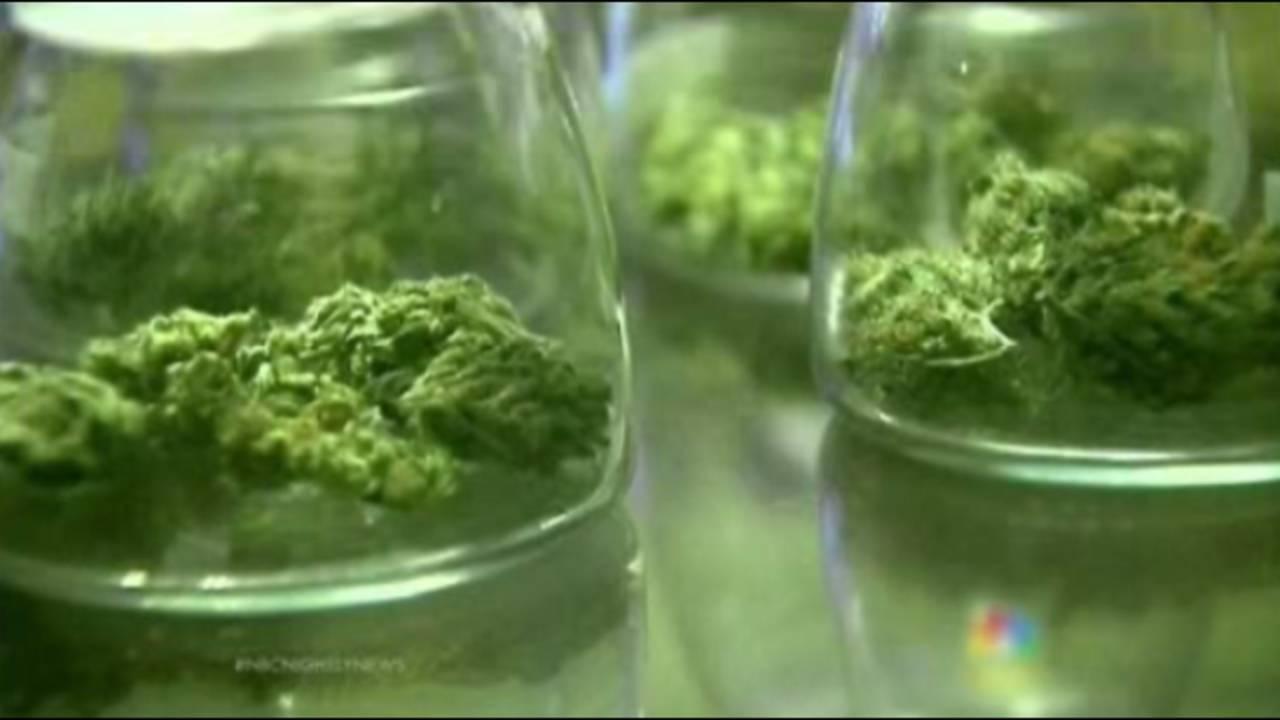 Medical marijuana jars_35815876