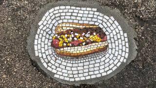 Michigan artist turns Detroit potholes into beautiful mosaics