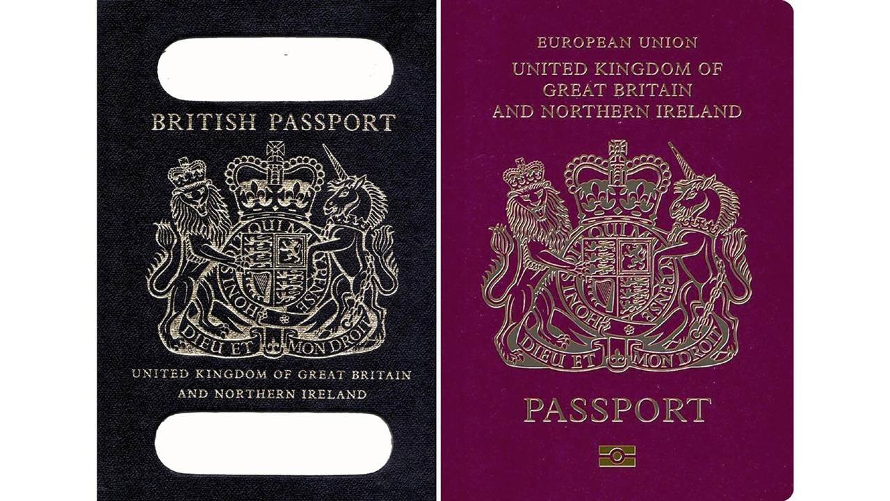 Uk Passports Will Change From Burgundy To Blue After Brexit
