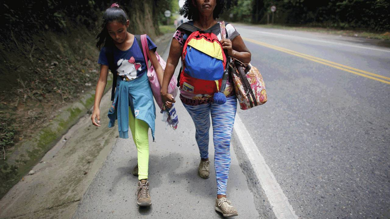 Venezuelan migrants journey