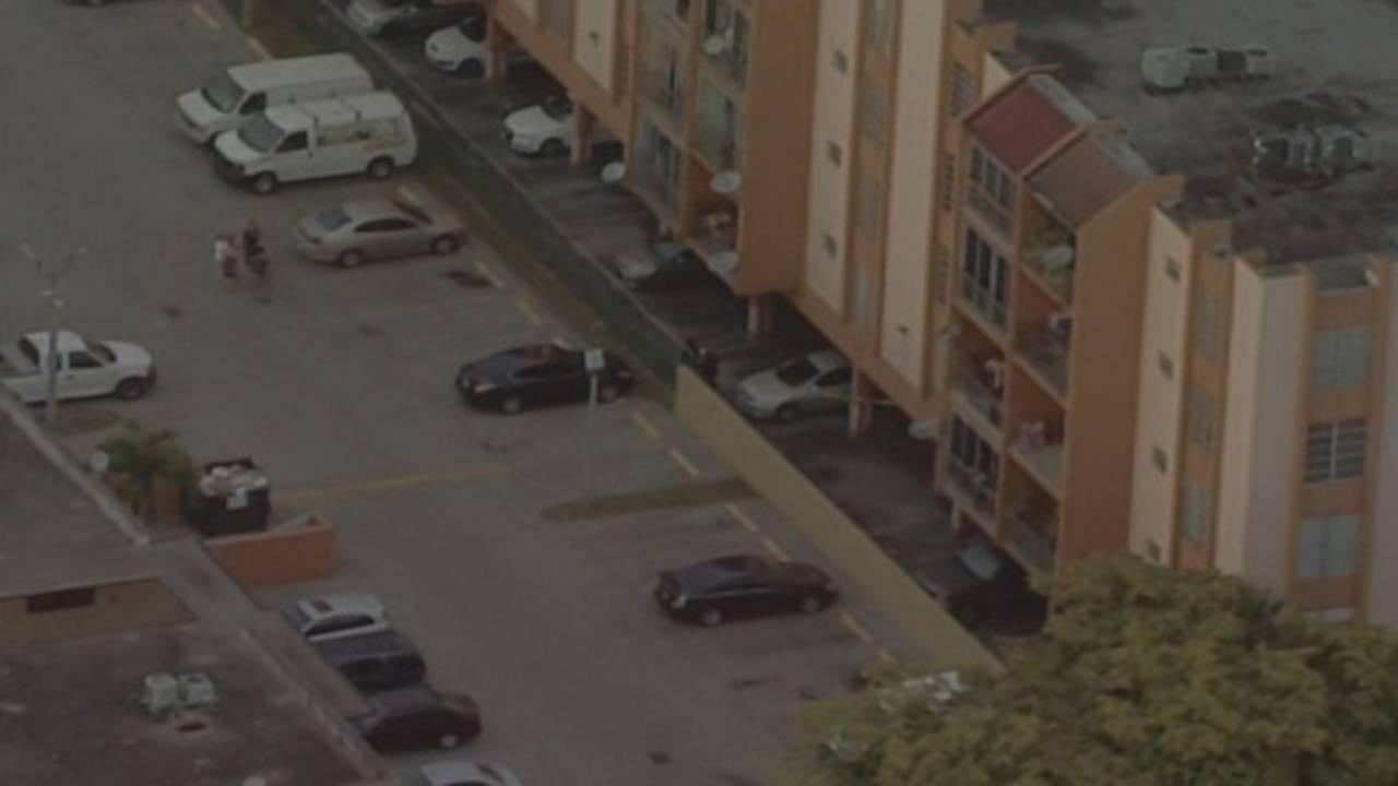 Hialeah apartment building where toddler fell