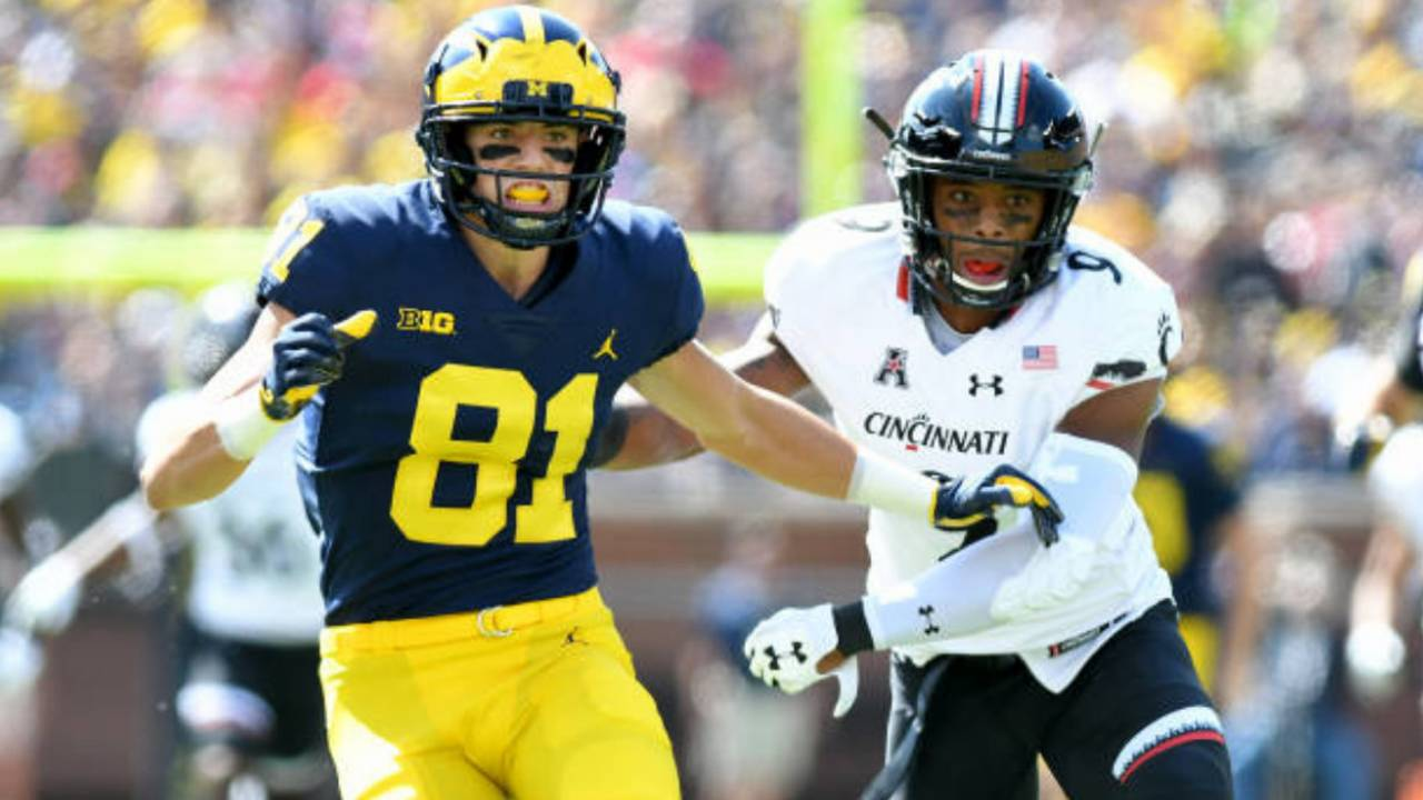 Nate Schoenle Michigan football vs South Carolina Outback Bowl 2017
