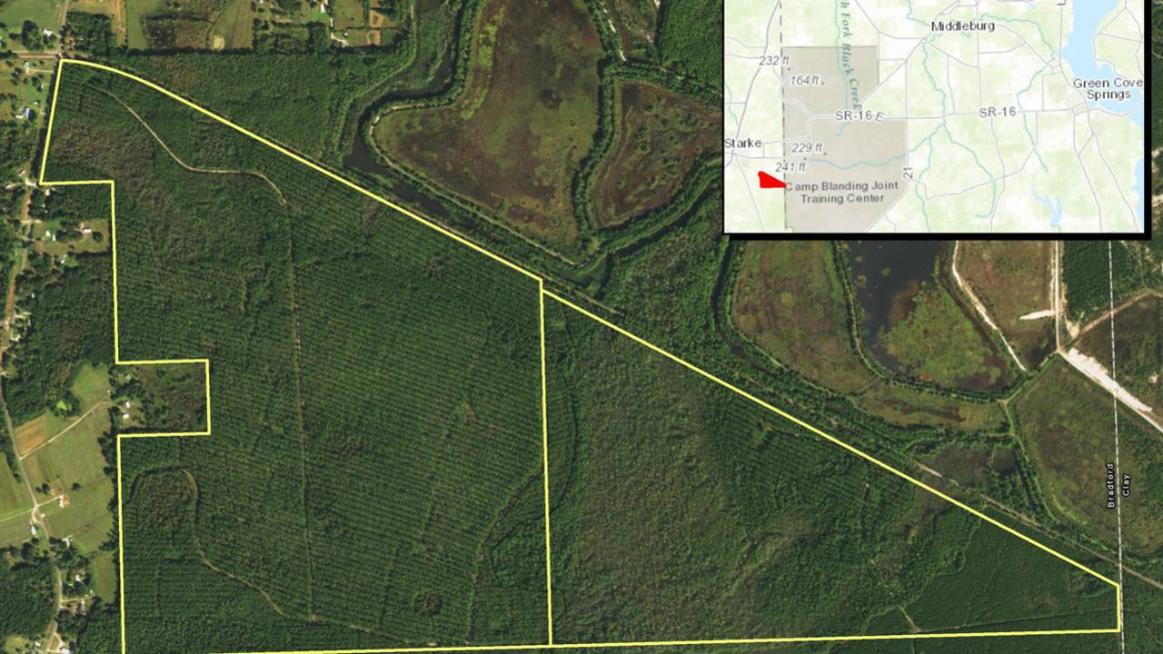 Camp Blanding Florida Map.Land Trust Acquires Land For Conservation Near Camp Blanding