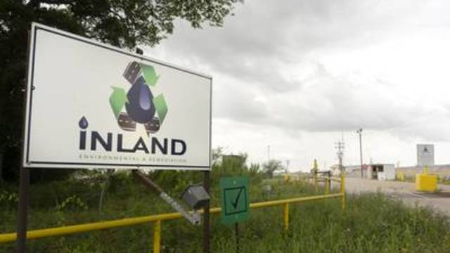 Inland Environmental & Remediation Inc. is located on Skull Creek, near Columbus, Texas. April 15, 2019.