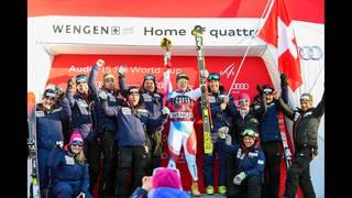Swiss racer wins world's longest downhill in Wengen