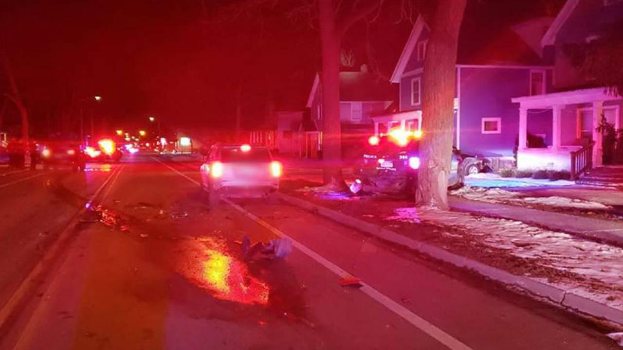 Ann Arbor police car struck during traffic stop 1