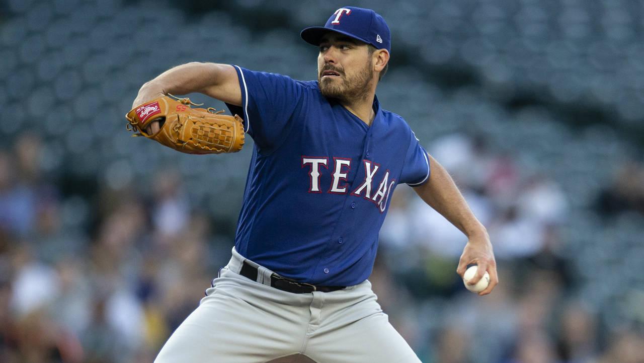 Matt Moore Texas Rangers 2018