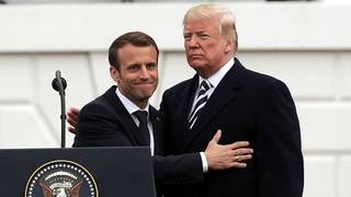 French President's pointed speech to Congress takes aim at Trump agenda