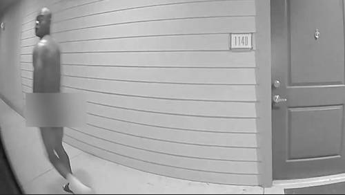 Naked man seen on woman's apartment doorbell camera