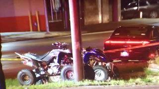 1 dead after crashing ATV into building on Detroit's west side