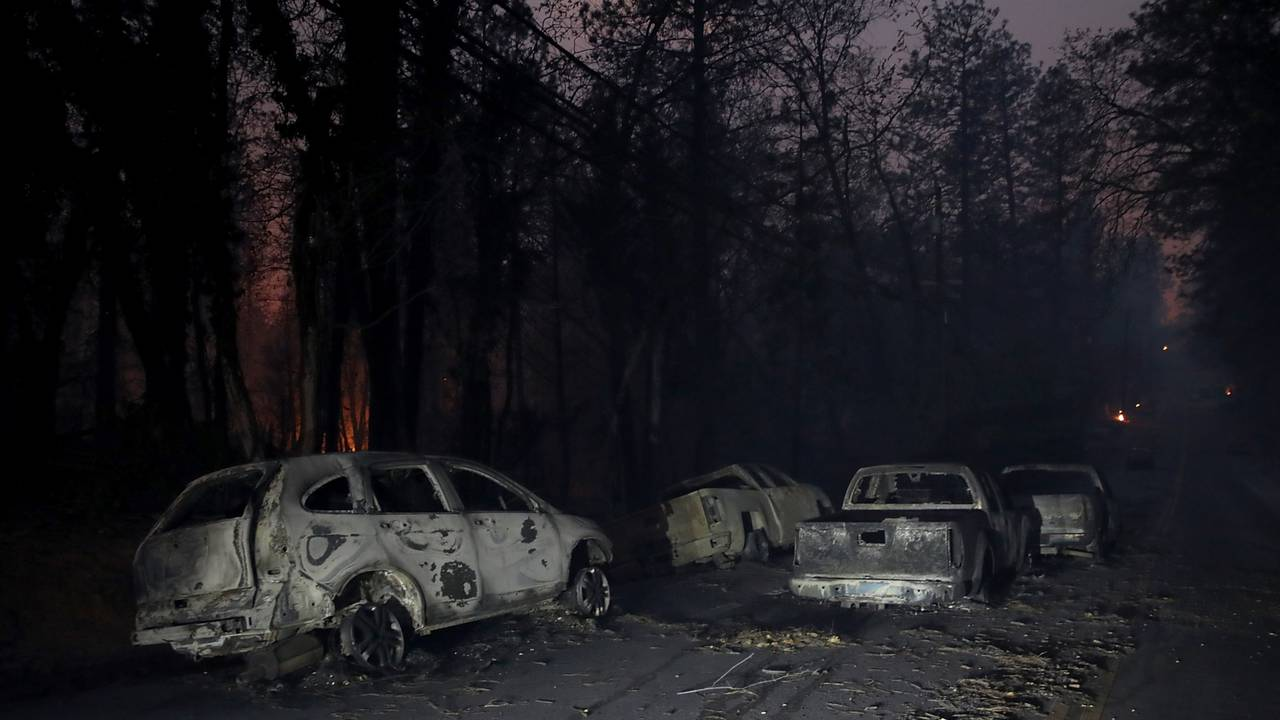 burned out cars during California's Camp Fire57607149-75042528