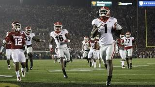 Georgia wins Rose Bowl in double overtime over Oklahoma