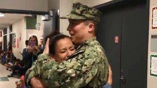 SWEET REUNION: Naval officer surprises wife, Fort Bend ISD teacher, at&hellip&#x3b;