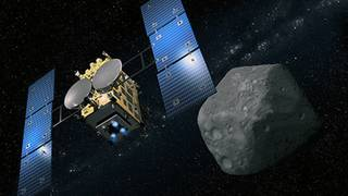 Space probe fires bullet into asteroid