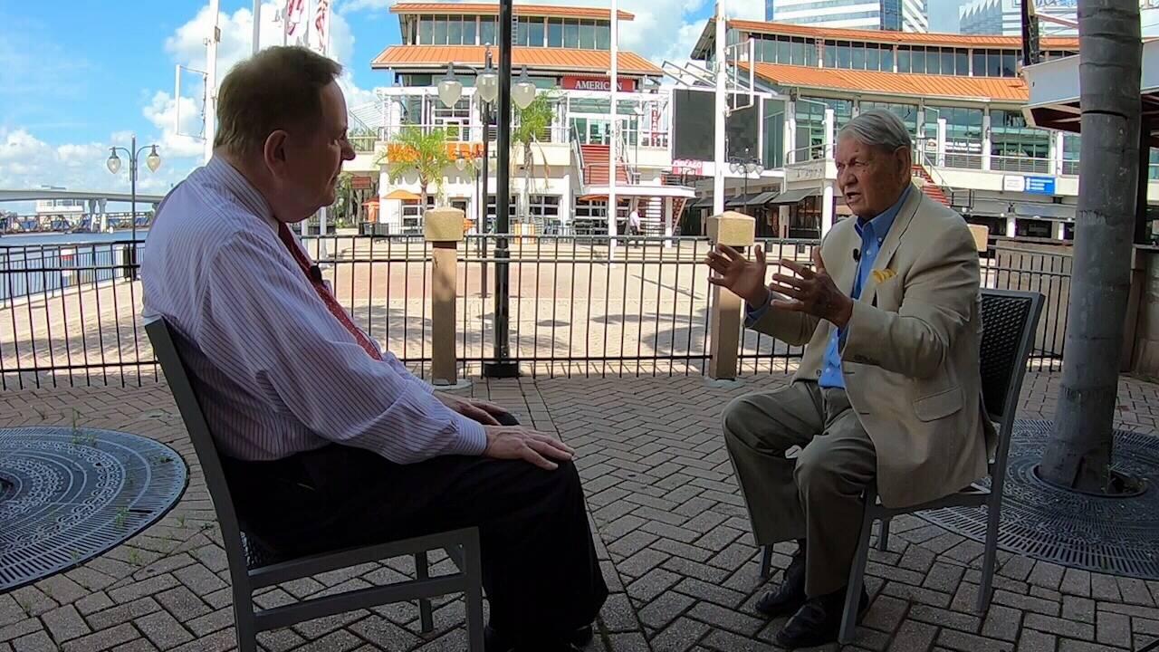 Tom Wills and Former Mayor Jake Godbold
