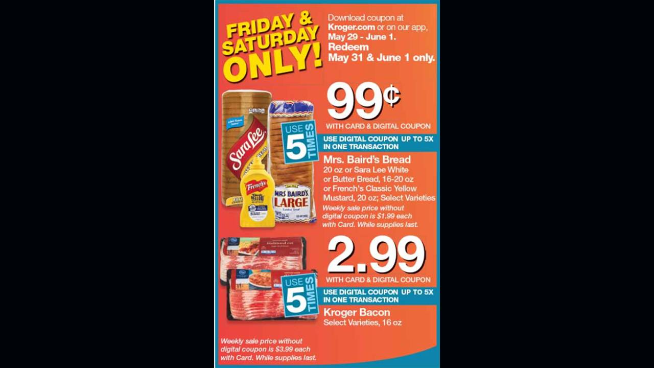 Kroger weekend deal
