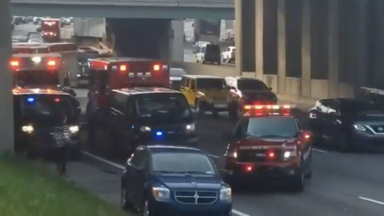 Wayne County prisoner transport van crash