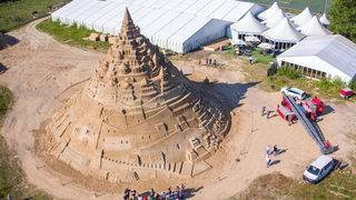 This is the world's tallest sandcastle