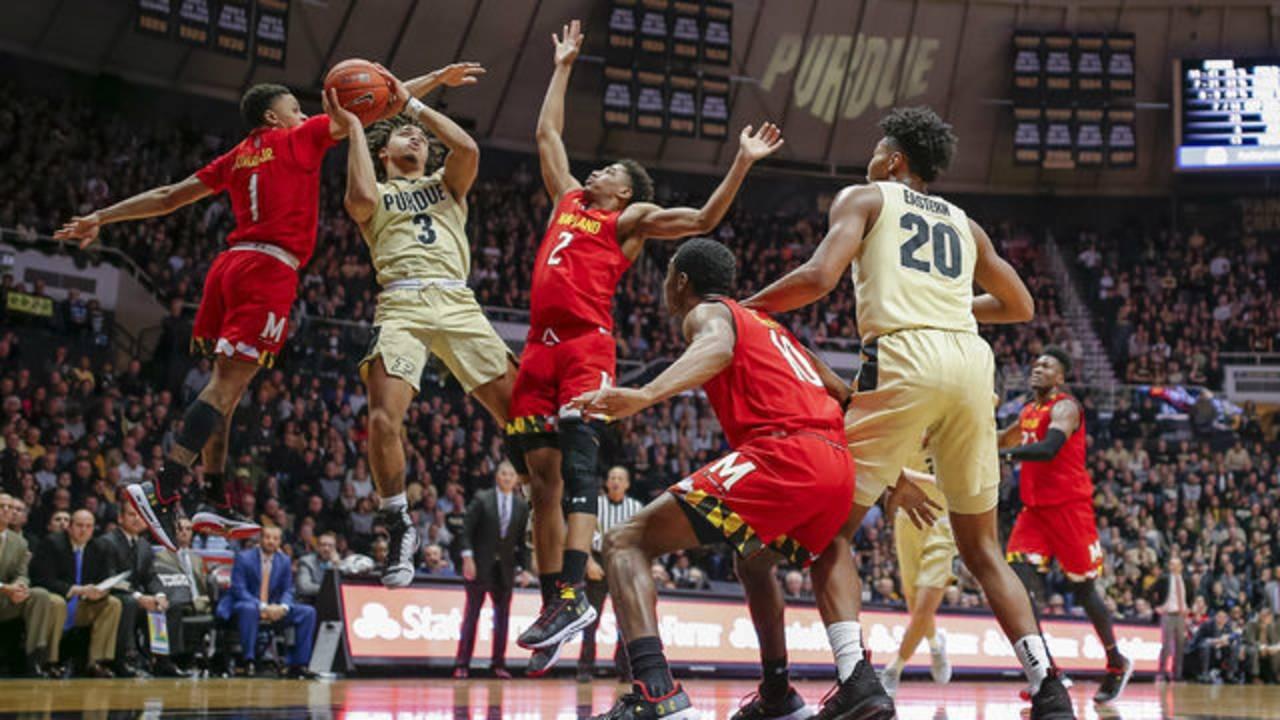 Carsen Edwards Purdue basketball vs Maryland 2018