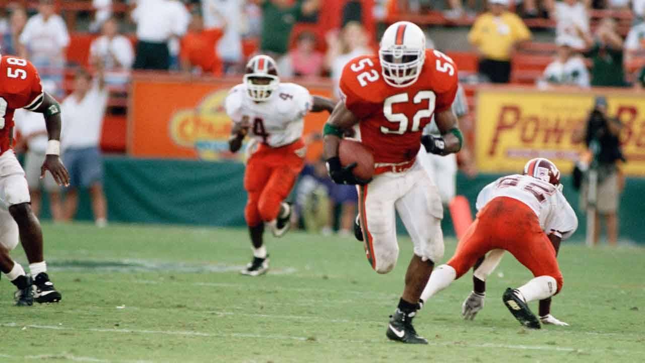 Miami Hurricanes linebacker Ray Lewis vs. Virginia Tech in 1994