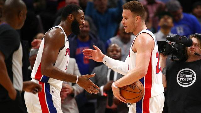Blake Griffin and Andre Drummond Detroit Pistons