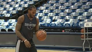 Spurs' Kawhi Leonard will make his season debut vs. Mavs