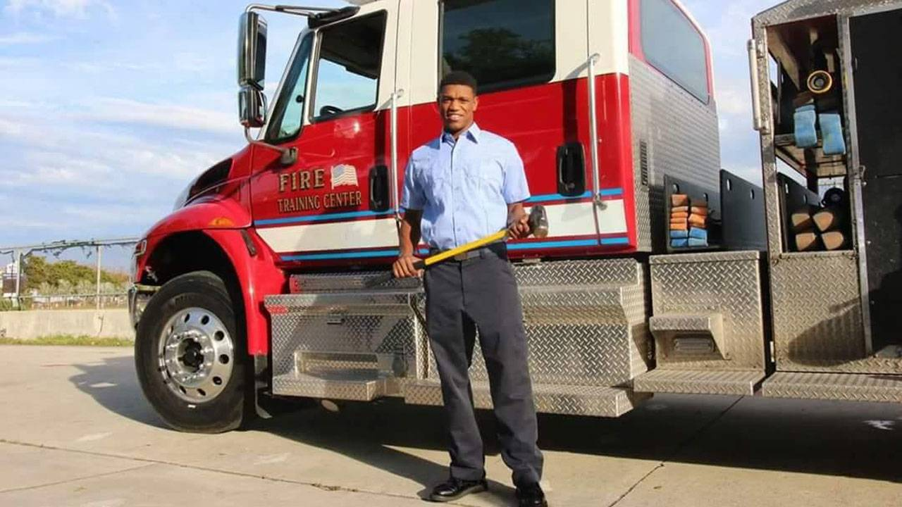 Darin Williams aspiring firefighter