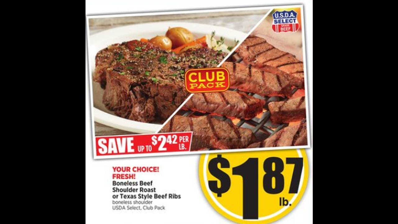 H-E-B beef and ribs