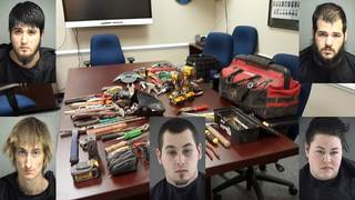 Five charged with theft of $9,000 in tools from Bedford