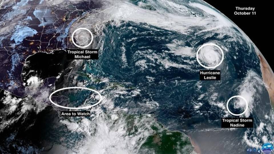 AM Thursday Michael satellite image