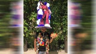 This Selena-inspired Fiesta hat is a hit with singing icon's brother