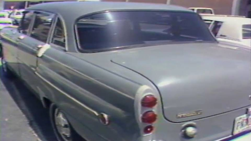 Reve Walsh's old Checker cab car parked outside Hollywood Mall after Adam Walsh disappeared