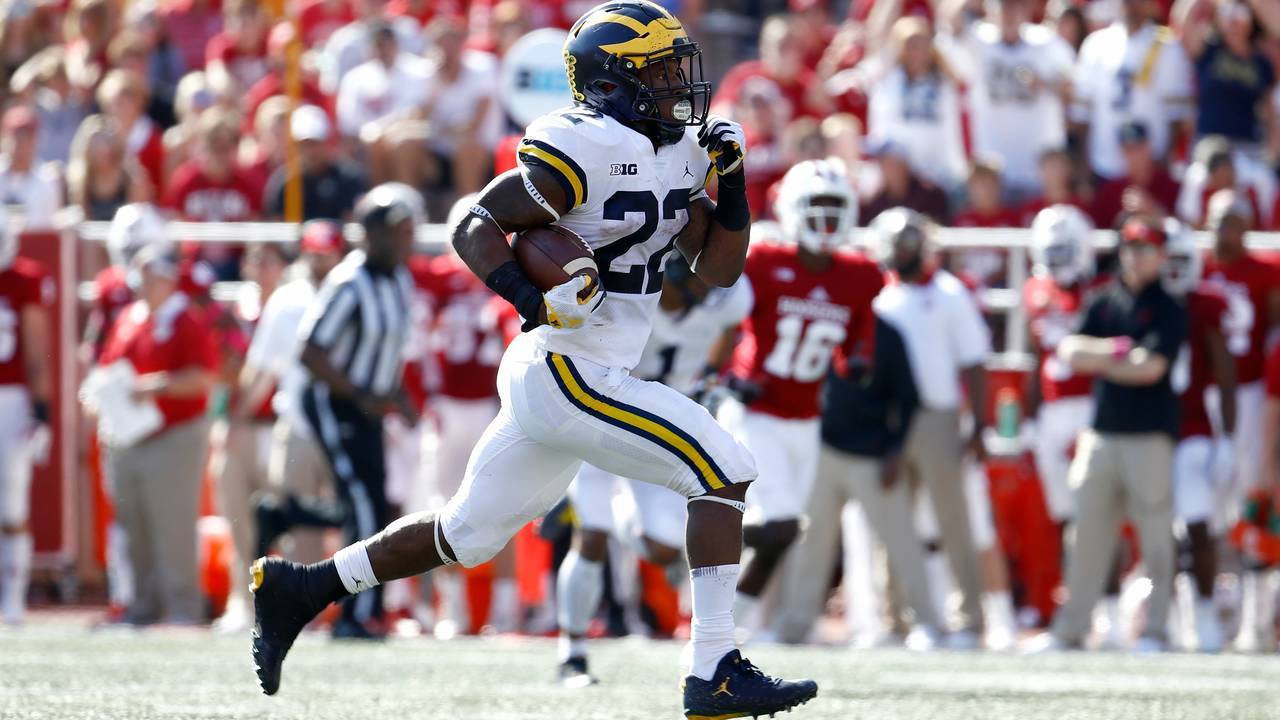 Karan Higdon Michigan football vs Indiana 2017