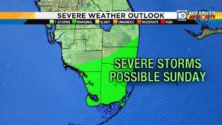 Severe storms possible for South Florida on Sunday