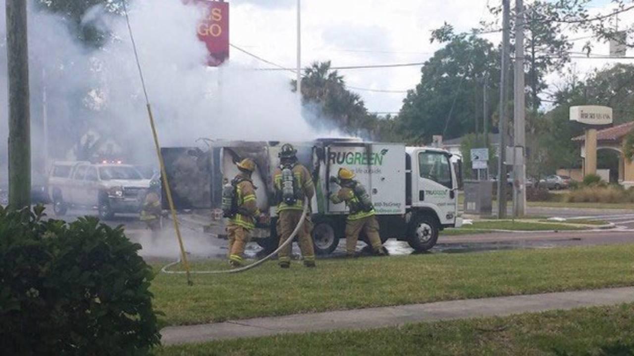 Fertilizer truck fire 2